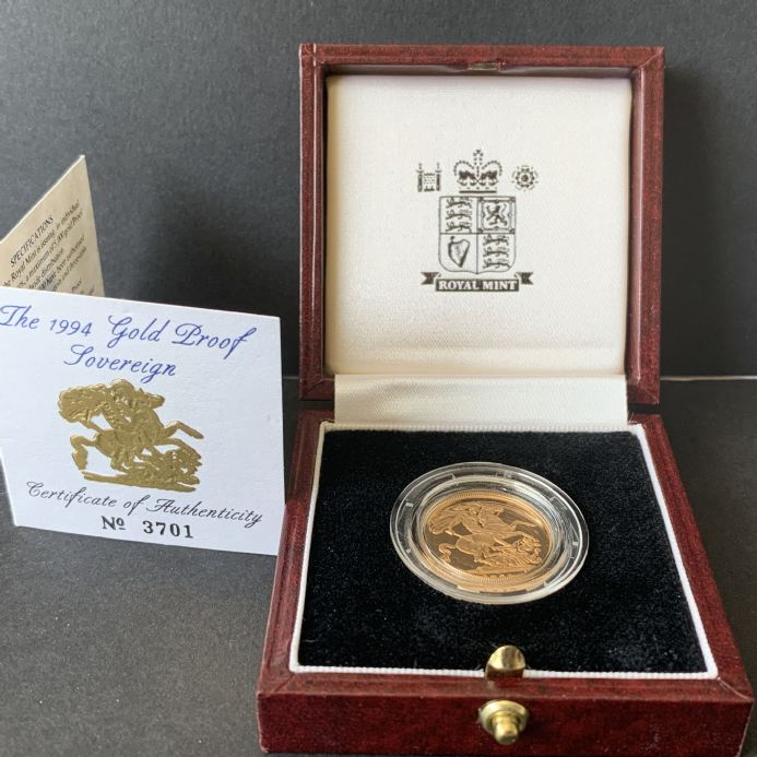 1994 Proof Full Gold Sovereign